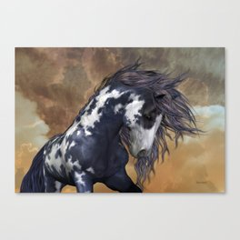 Storm, wild horse, fantasy Canvas Print