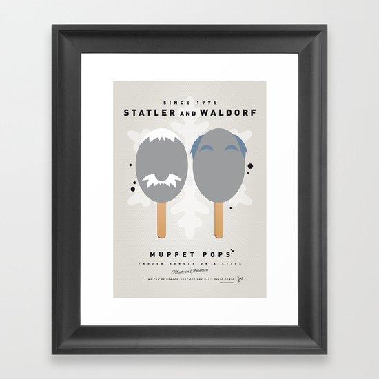 My MUPPET ICE POP - Statler and Waldorf Framed Art Print