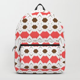 Chocolate Brown + Coral: Pattern No.5 Backpack