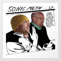 sonic youth Art Prints featuring Sonic Meth (Sonic Youth x Breaking Bad) by Sarah Newhouse