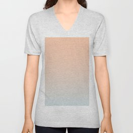 WEST COAST - Minimal Plain Soft Mood Color Blend Prints Unisex V-Neck