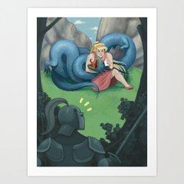 Buff Princess Art Print