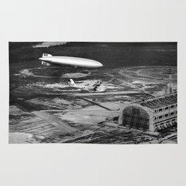 Zeppelin arrival over New Jersey Rug