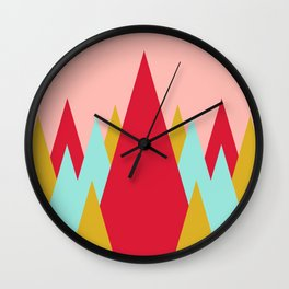 Whimsical Christmas // Trees Wall Clock