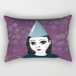 Lonely Girl has a party Rectangular Pillow
