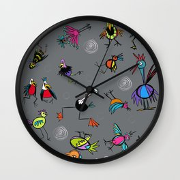 Birdies for fun Wall Clock