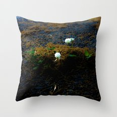 Sprouting an urban island Throw Pillow