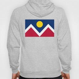 Denver City Flag - Authentic High Quality Hoody