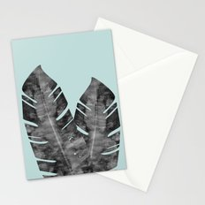 Two tropical leaves Stationery Cards