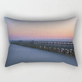 Hilton Pier at Sunset Rectangular Pillow