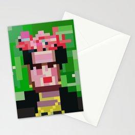 Frida Girl Portrait Low res pixel art 8 bit mosaic  Stationery Cards