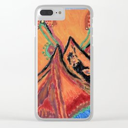 """"""" the mountain """" Clear iPhone Case"""