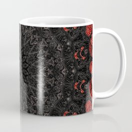 Red and Black Bohemian Mandala Design Coffee Mug