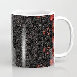 Red and Black Bohemian Mandala Design Coffee Mug