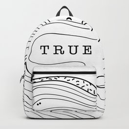 true places - tree rings Backpack
