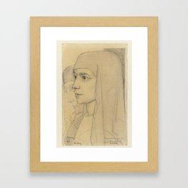 Portrait of Treesje Westermann, Mother Teresa Huf of Bethany, Jan Toorop, 1927 Framed Art Print
