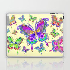Butterfly Colorful Tattoo Style Pattern Laptop & iPad Skin