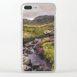 Cwm Idwal Snowdonia Eryri Walk Mountain Heather Wales Clear iPhone Case