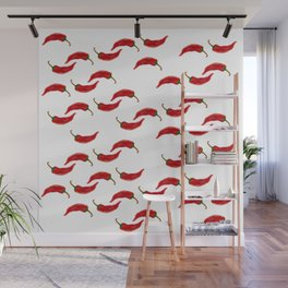 Hot red Chili pepper Wall Mural