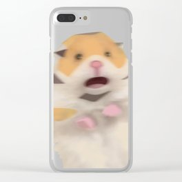 Scared Hamester Clear iPhone Case