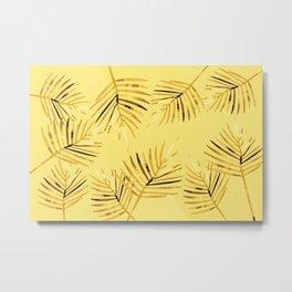 Brown Palm Leaves I Metal Print