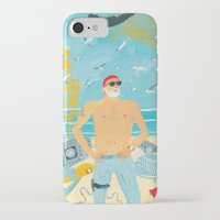 murray iPhone & iPod Cases featuring Thrill Murray by Nicholas Stevenson