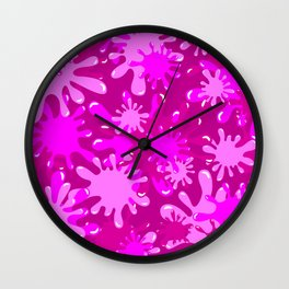 Slime in Hot Pinks Wall Clock
