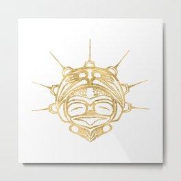 Gold Frog Spirit Metal Print