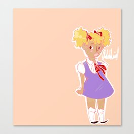 Like Showing Up and Being Cute and Angry Canvas Print