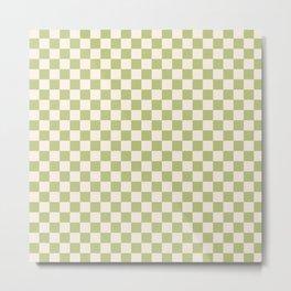 Checked - Matcha Metal Print