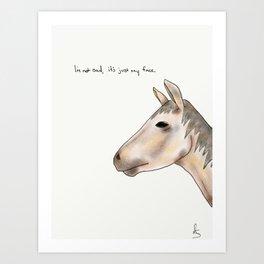 tim the horse Art Print