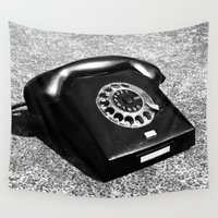 telephone Wall Tapestries featuring telephone by Falko Follert Art-FF77