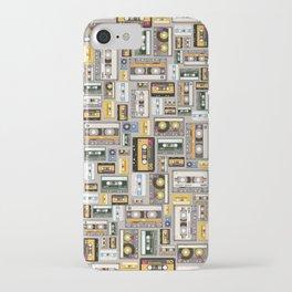 Retro cassette tape pattern 3 iPhone Case