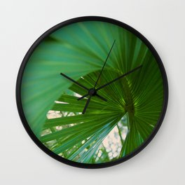 Curvy Fern Jungle Style Wall Clock