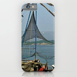 Traditional Chinese Fishing Net Fishing Boats, India iPhone Case