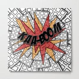 KAA-BOOM Metal Print