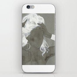 girl with silver trabzon hasırı bracelet iPhone Skin