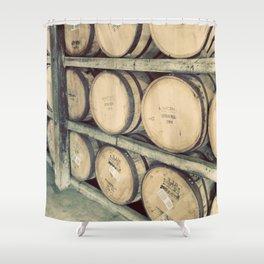 Kentucky Bourbon Barrels Color Photo Shower Curtain