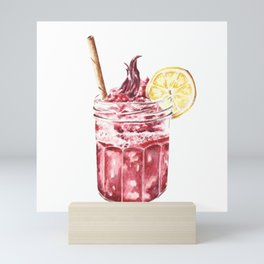 Cool Summer Drink With Lemon Slice Mini Art Print