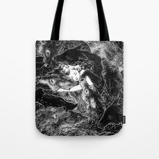 The Child Sleeps (B&W) Tote Bag