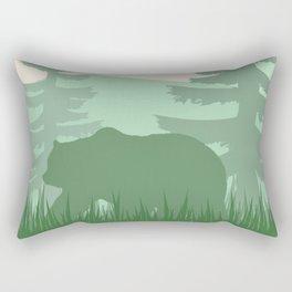 Bear in the Forest Rectangular Pillow