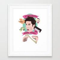 pivot Framed Art Prints featuring Pivot - Dr. Ross Geller by Mary HB Nguyen