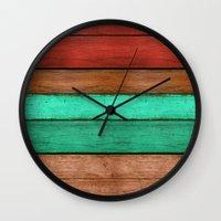 western Wall Clocks featuring Lady Western by Diego Tirigall