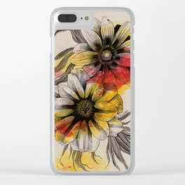 Floral Series: Gazania Rigens Clear iPhone Case