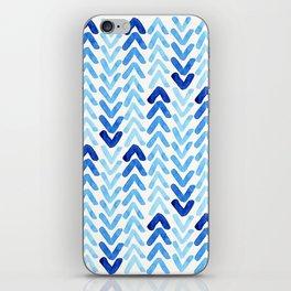 Blue Watercolour Arrows iPhone Skin