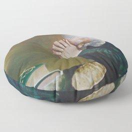 Eric Enstrom Grace Man Praying Over Bread Floor Pillow