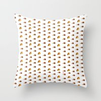taco Throw Pillows featuring Taco by AlexavierTaiga