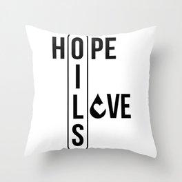 CUTE PRETTY ESSENTIAL OIL DIFFUSER printS - HOPE LOVE Throw Pillow
