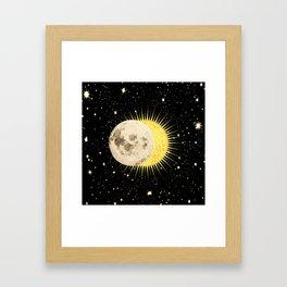 'Imminent Eclipse' Sun Moon & Stars Framed Art Print