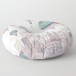 Voyages Over San Francisco ~ Refresh Floor Pillow